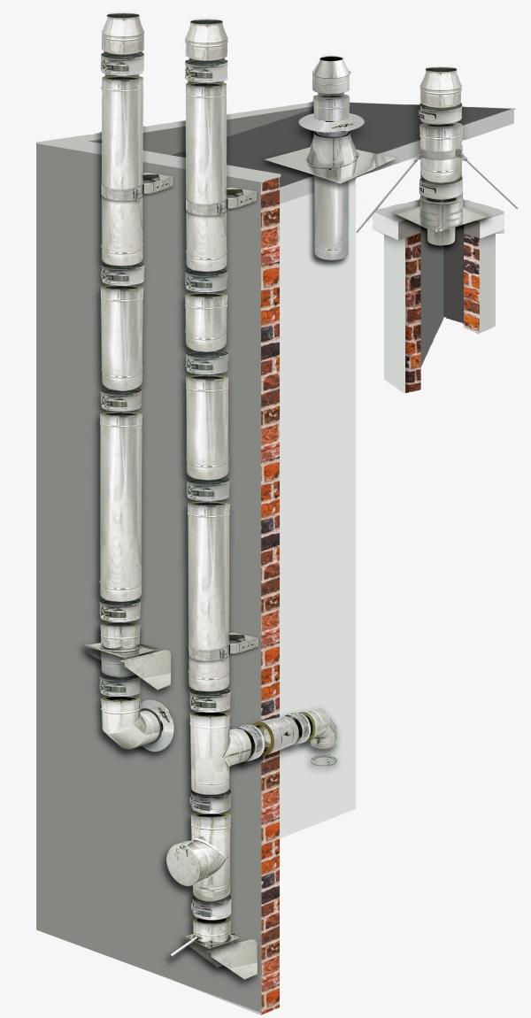 Komin izolowany PRO do kotla gazowego