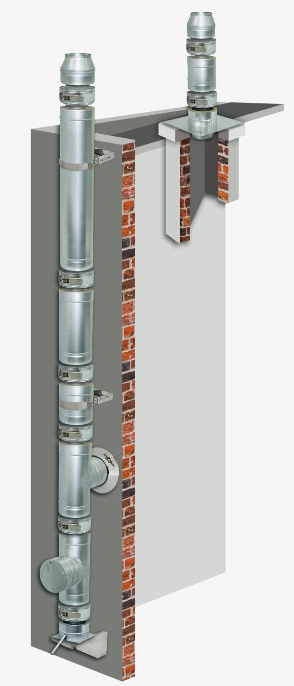 Komin wentylacyjny - Elementy wentylacji izolowanej