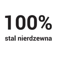 100% stal nierdzewna